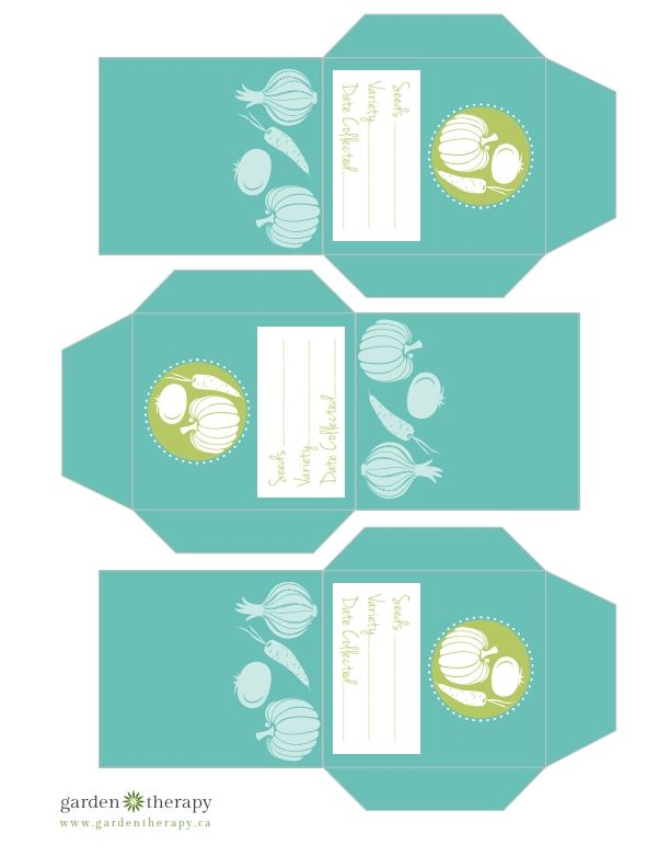 Pochettes à graines à imprimer