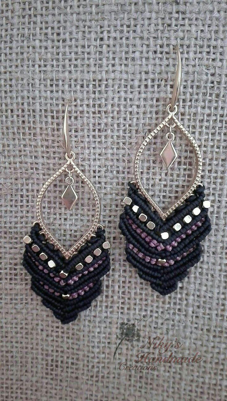 Handmade makrame earrings