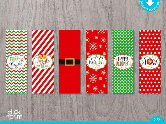 Christmas nugget chocolate wrapper print yourself Christmas