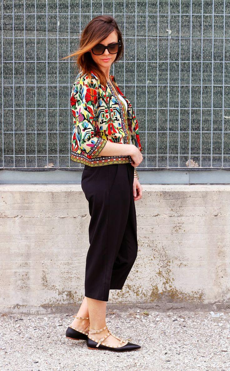 #ootd #fashionblogger #culottes #rockstud #ethnicjacket #bohojacket #gipsy
