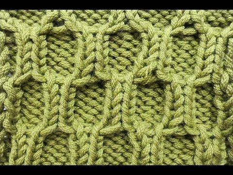 Knit with eliZZZa * Knitting Stitch * Honeycomb Stitch * Honeycomb Cable