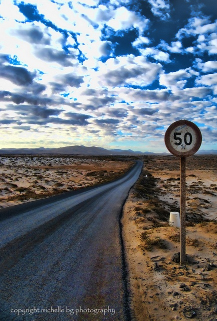 My own pic of a road in El Cotillo, Fuerteventura, Canary Islands
