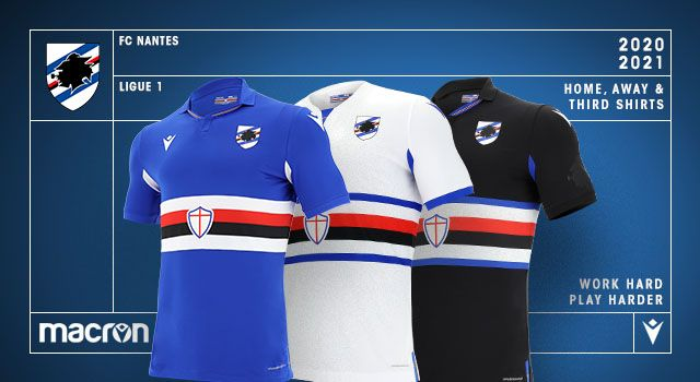 Uc Sampdoria 2020 21 Home Away And Third Macron Football Kits Superfanatix Com In 2020 Football Kits Football Soccer Jersey