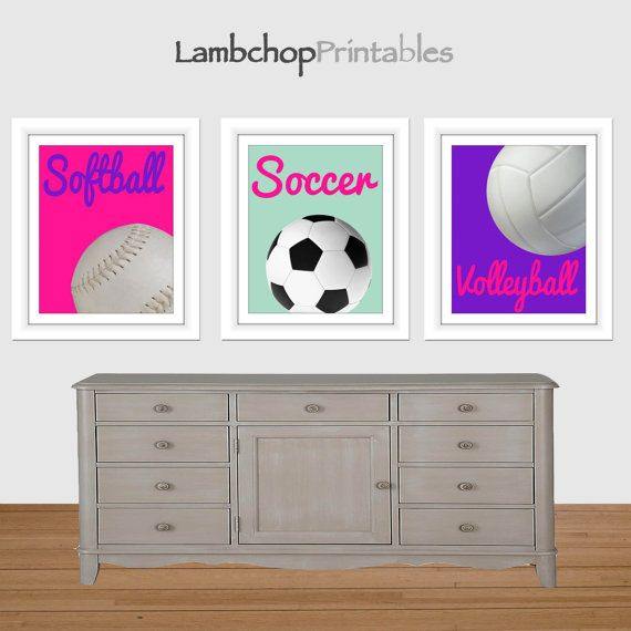 girl sports printable art softball print soccer print volleyball print girls room decor nursery art sports girl art print hot pinl. beautiful ideas. Home Design Ideas