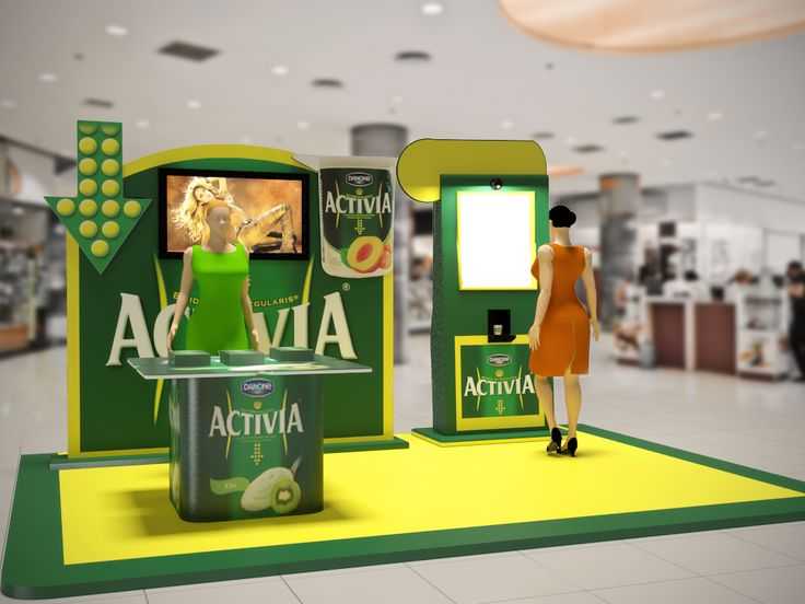 Tasting booth designs for Activia.