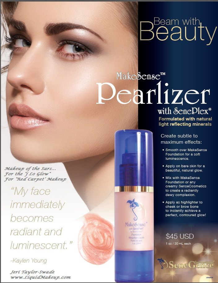 "Makeup of the Stars... the ""J Lo Glow""  is achieved with this amazing ""tool"" called Pearlizer! I love it!"
