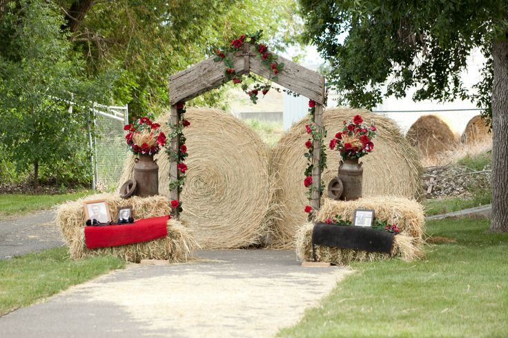 country wedding arch