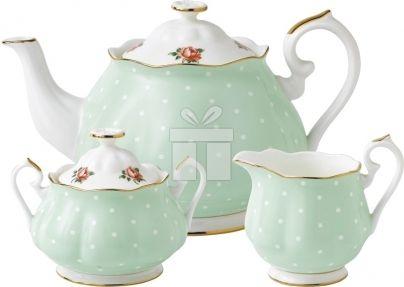 Set 3 Piese Ceai Royal Albert Polka Rose#accesoriiceai #accesoriiceaiportelan #portelanenglezesc #ceainic #cadouridelux #cadourispeciale #cadourifemei