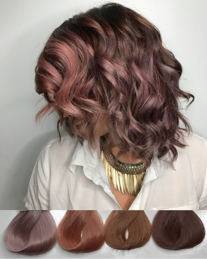 Chocolate mauve. Possibly one of the coolest colors I've done.