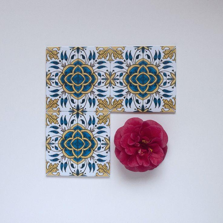 Padrão Camélia / Camellia Pattern #Azulejo #AzulejoDoMês #AzulejoOfTheMonth #Flores #Flowers #Padrão #Pattern