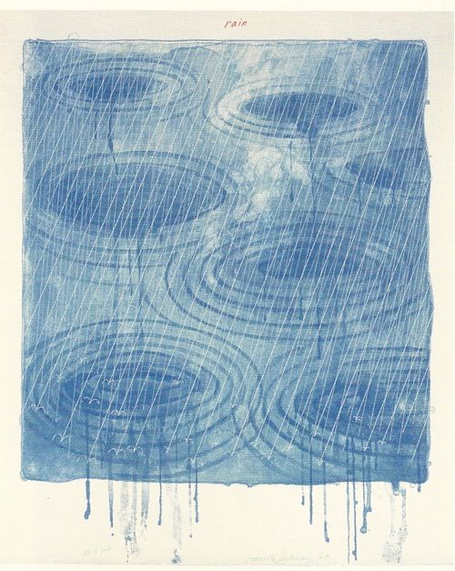 David Hockney. Rain 1973 Lithograph