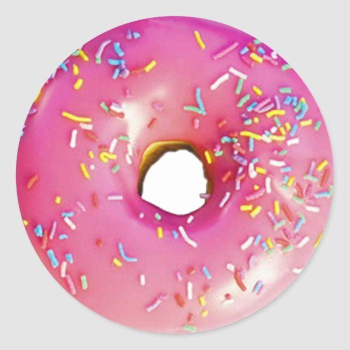 Donut Classic Round Sticker | Zazzle.com