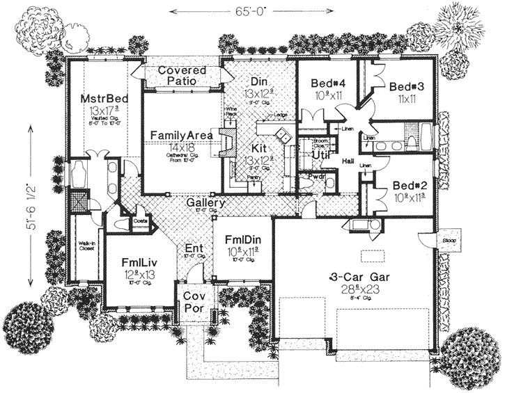 European style house plans 2231 square foot home 1 for I need a 4 bedroom house