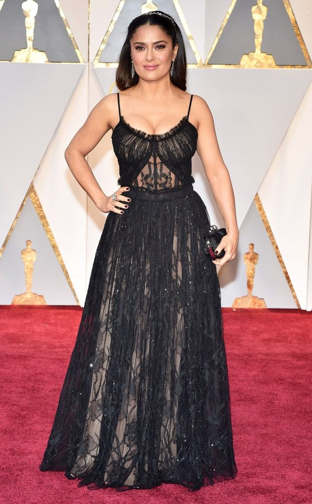Salma Hayek at The Oscars 2017
