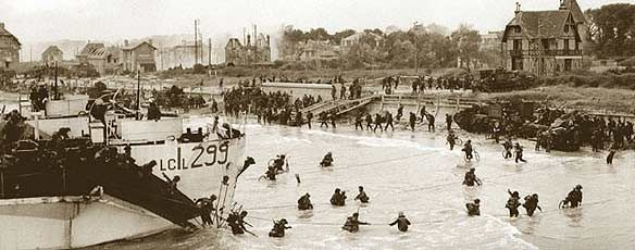 "This is a picture of Canada on D-Day. Canada landed on the beaches on their landing point of ""Juno"". Canada's goal was to establish the beachhead and in two hours Canadian forces shattered the German forces. About 155,000 soldiers were invlolved, 5,000 ships and landing craft, 50,000 vehicles, and 11,000 planes were massed for the greatest seabourne invasion in history.     http://www.cbc.ca/news/canada/story/2009/06/02/f-dday-history.html"