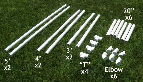 measurements for PVC soccer goal
