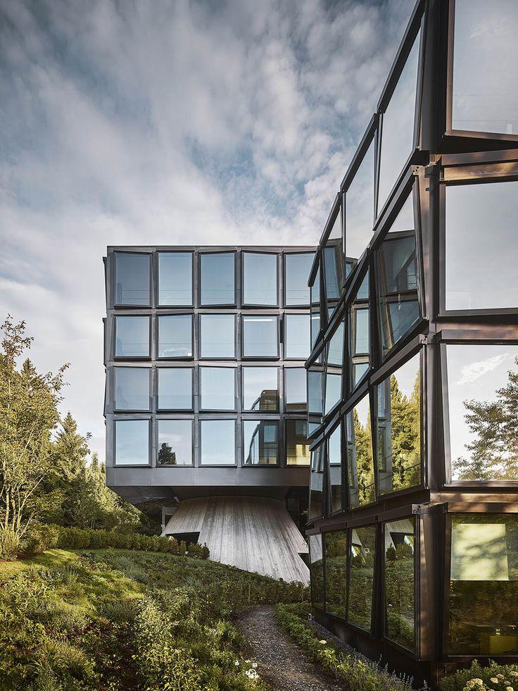 Herzog Amp De Meuron Completes Mirror Pixelated Buildings
