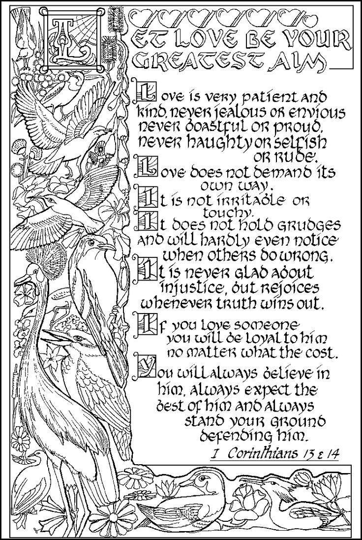 1 Corinthians 13amp14 ABDA ACTS Coloring Page