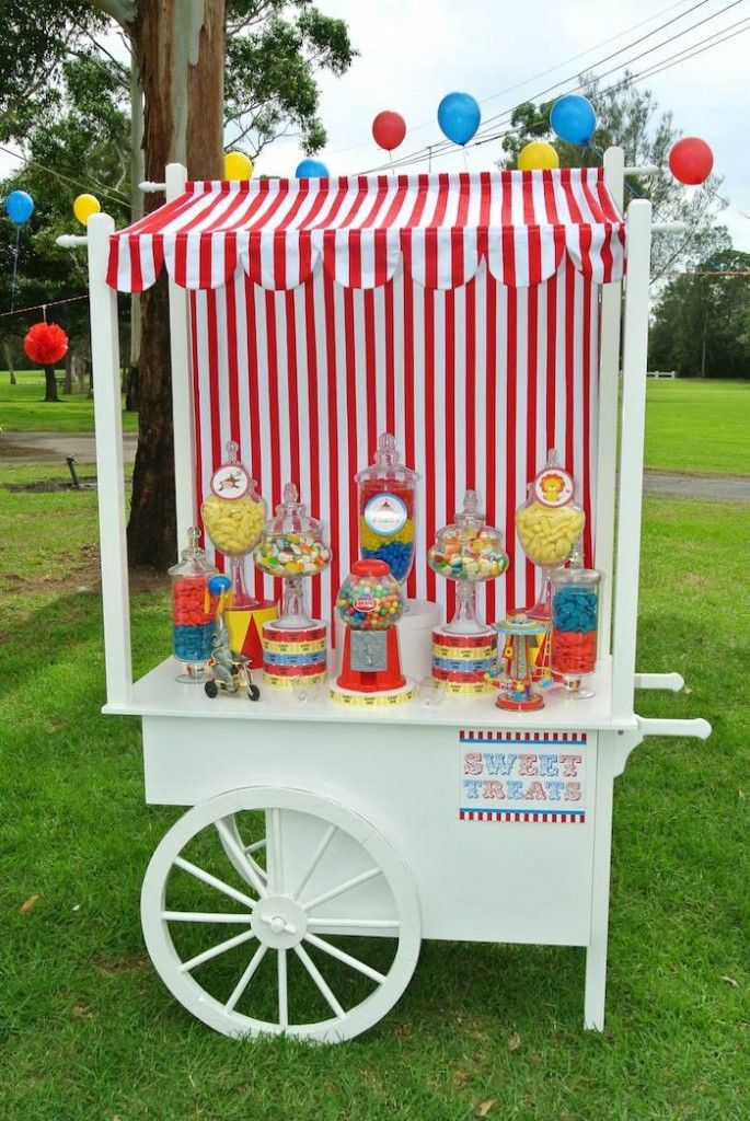 Big Top Circus themed birthday party Full of Really Fun Ideas via Kara's Party Ideas | Cake, decor, cupcakes, games and more! KarasPartyIdea...