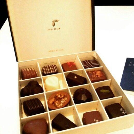 Koko Black chocolates packaging