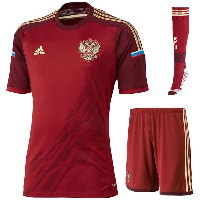 Russia's World Cup jerseys.