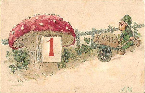 Символика новогодних и рождественских старинных открыток. Часть 2 - knatka