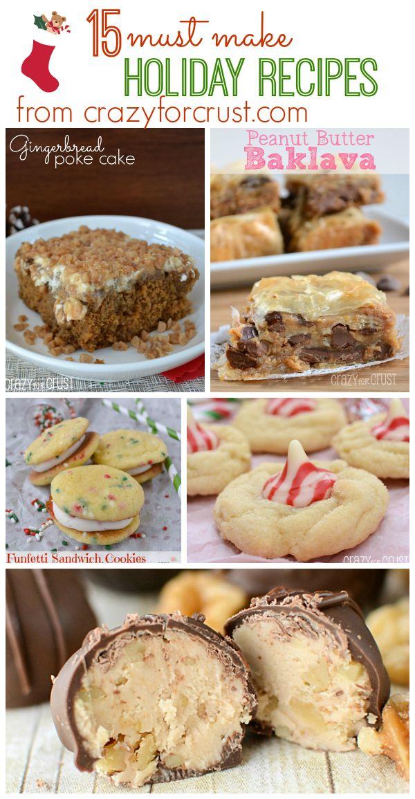 15 Holiday recipes you MUST make from crazyforcrust.com