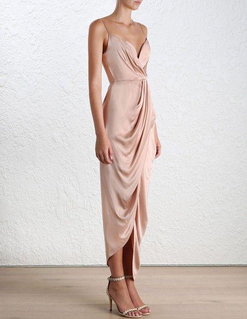 Silk Plunge Drape Long Dress - ค้นหาด้วย Google
