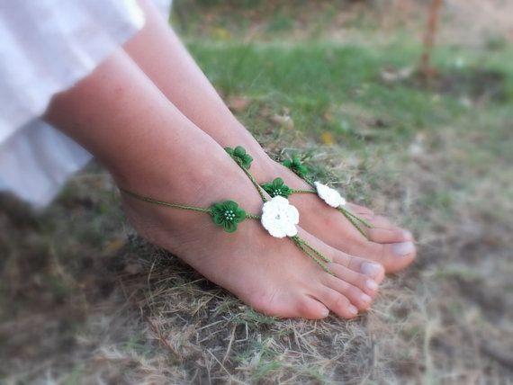 ücretsiz gemi Boncuk Oya Ayak Takı Boho Plaj Halhal Hedef düğün saçaklı ayakkabı, plaj yalınayak sandalet, plaj gelinlik halhal,