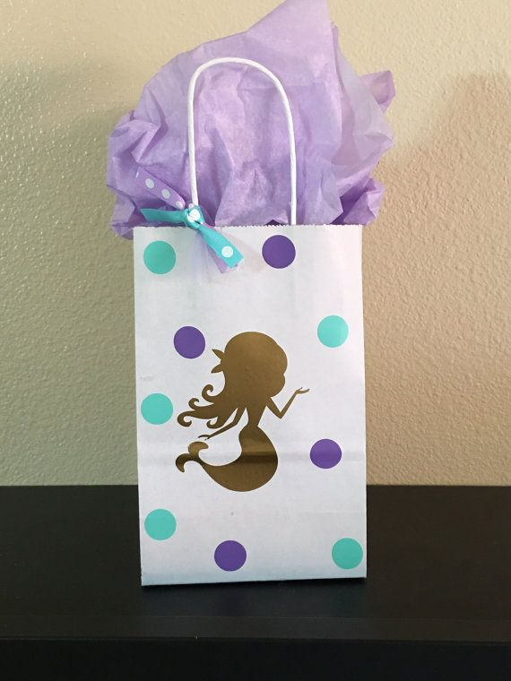 Mermaid party favor bags by DivineGlitters on Etsy