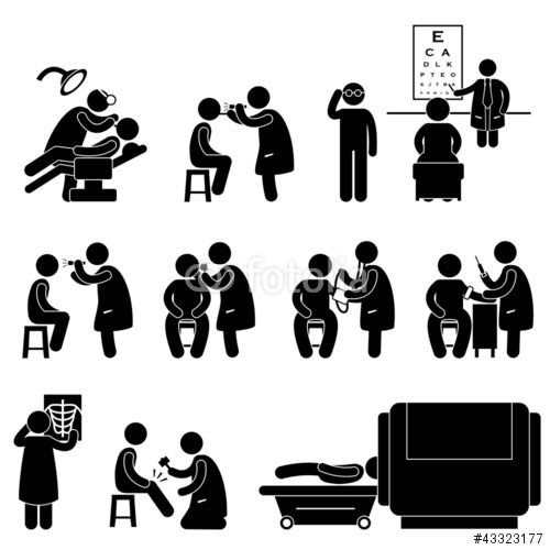 Vektor: Health Medical Body Check Up Examination Test