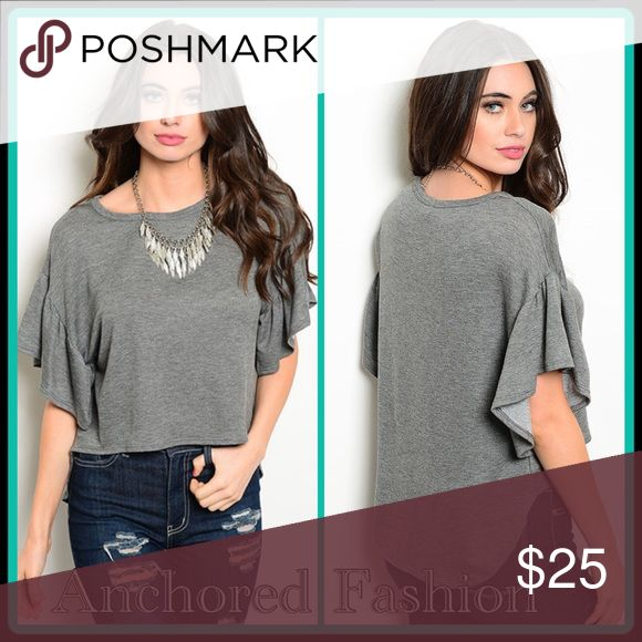 Heather Grey Peasant Top This top,is so soft and comfortable. Perfect with leggings, skinny jeans or a skirt. 70%!Rayon, 26% Polyester, 4% Spandex. Tops Blouses