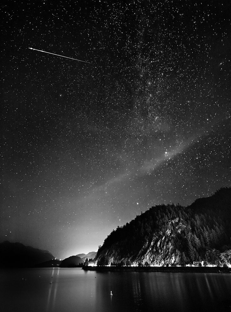 Shooting star...we were treated to an amazing meteor shower tonight. Watched them for hours. So beautiful :)