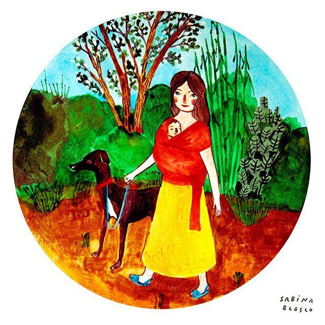 COMO DENTRO💗  #campo  #acuarela #ilustracion #danza #maternidad #colaboracion #amor #amistad #mundomejor #crianza #crianzaconapego #crianzarespetuosa #apoyomutuo #comprension #lazos #union #luz #mumpower #elpoderdelamaternidad #sabinablasco