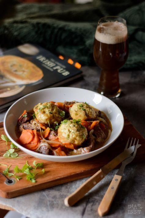 Ina Is(s)t: Beef in Stout with Herb Dumplings - Rinderfleisch in irischem Bier mit Kräuter-Klößen