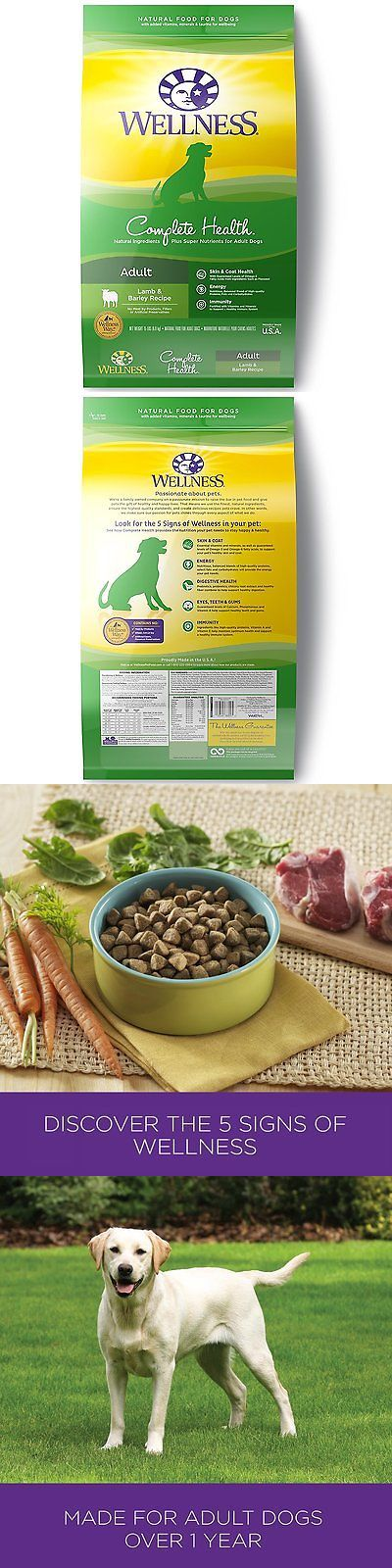 Dog Food 66780: Wellness Complete Health Natural Dry Dog Food, Lamb And Barley, 15-Pound Bag -> BUY IT NOW ONLY: $38.61 on eBay!