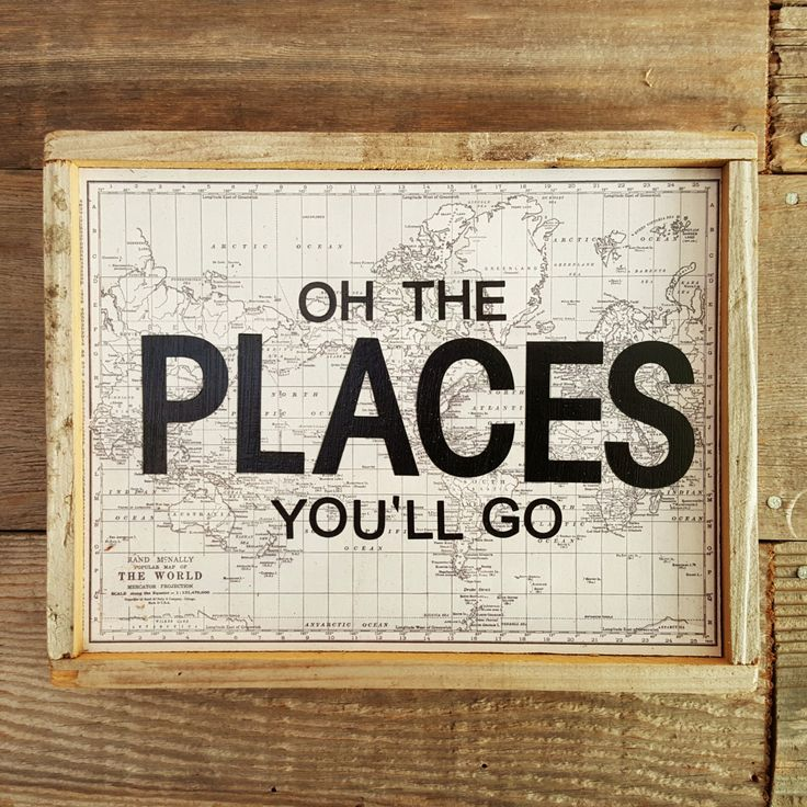 Oh The Places You'll Go  |  Rustic Wall Art  |  Vintage Reproduction Home Decor by BumperCropMarketing on Etsy