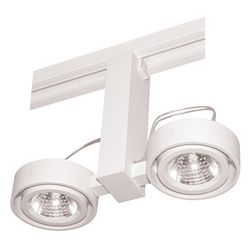 Juno Track Lighting T812WH Duo - Low Voltage 50W MR16, White Color