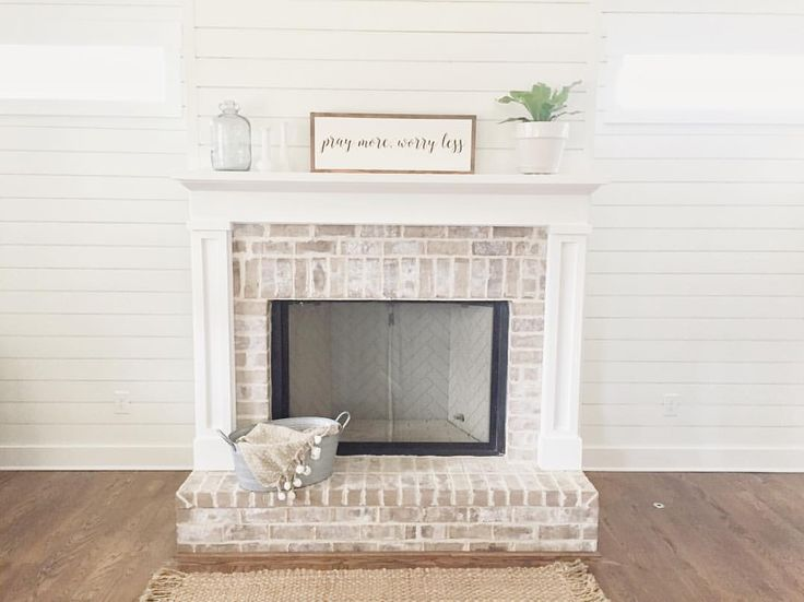 25 Best Ideas About White Washed Fireplace On Pinterest