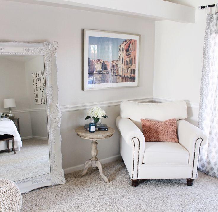 Bedroom sitting area, floor mirror