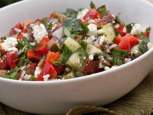 Chopped Greek Salad with Fresh Herbs | Fresh Herbs Recipes | Pinterest