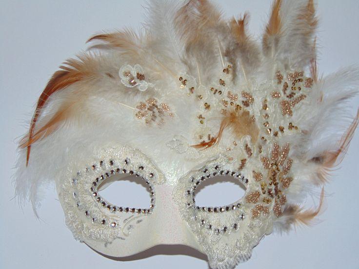 Venetian mask. Lady Feather