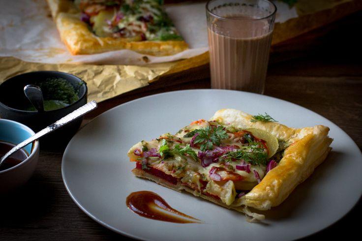 Mumbai Puff Pastry Tart - Follow My Cravings