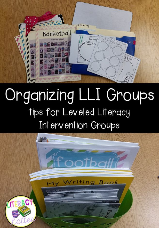 Organzing Leveled Literacy Intervention Groups.  Keep LLI materials organized and accessable for push-in groups!
