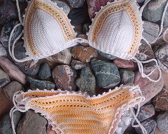 crochet bikini Abi 1 Crochet Vintage bikini by GoodMoodCreations