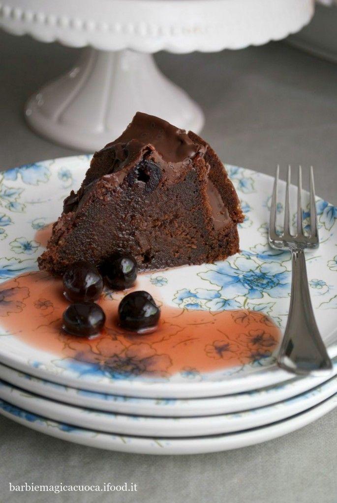 bundt cake cioccolato e amarene 2