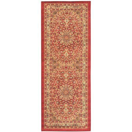 Sweet Home Stores Sweet Home Collection Medallion Design Red Indoor U0026 Kitchen  Runner Rug