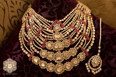 bridal necklace, polki bridal necklace