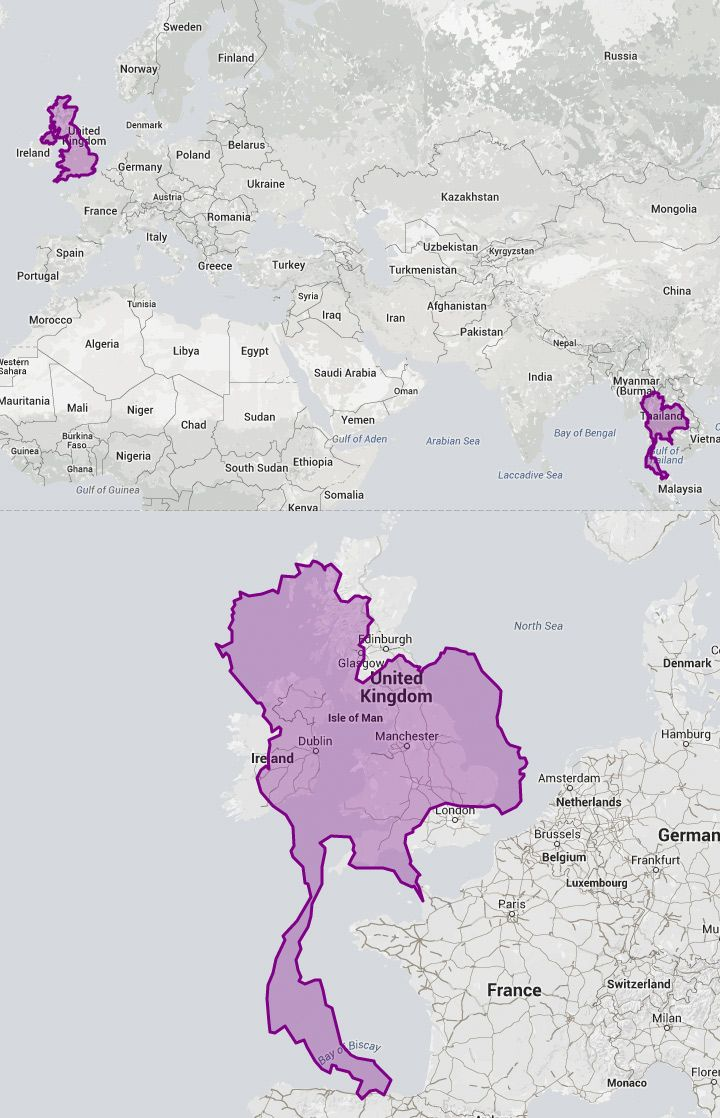 168 best geography resources images on pinterest geography earth a mind bending interactive map shows the actual sizes of countries nearer the gumiabroncs Image collections