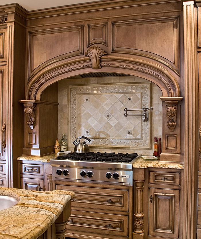 212 best tile designs images on pinterest for Tuscan style kitchen backsplash